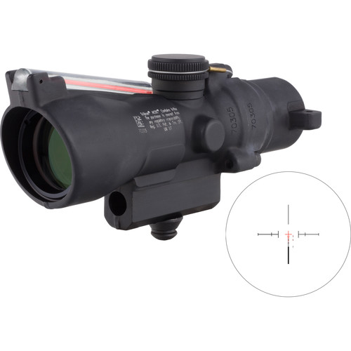 Trijicon 3x24 Compact ACOG Riflescope (Red Crosshair .223 / 55gr. Ballistic Reticle, M16 Carry Handle Base)