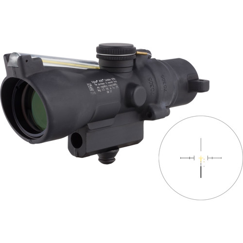 Trijicon 3x24 Compact ACOG Riflescope (Amber Crosshair .223 / 55gr. Ballistic Reticle, M16 Carry Handle Base)