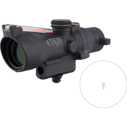 Trijicon 3x24 Compact ACOG Riflescope (Red Horseshoe/Dot .223 / 55gr. Ballistic Reticle, M16 Carry Handle Base)
