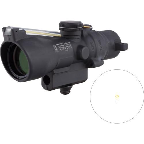 Trijicon 3x24 Compact ACOG Riflescope (Amber Horseshoe/Dot .223 / 55gr. Ballistic Reticle, M16 Carry Handle Base)