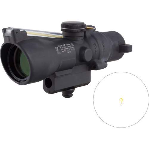 Trijicon 3x24 Compact ACOG Riflescope (Amber Horseshoe/Dot .223 / 55gr. Ballistic Reticle, M16 Carry Handle Base)
