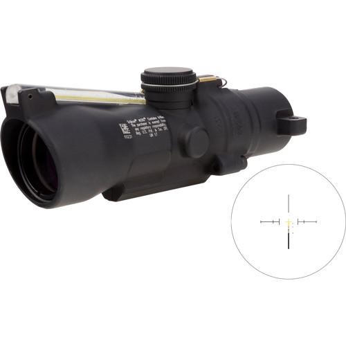 Trijicon 3x24 Compact ACOG Riflescope (Amber Crosshair .223 / 55gr. Ballistic Reticle, Low Height)