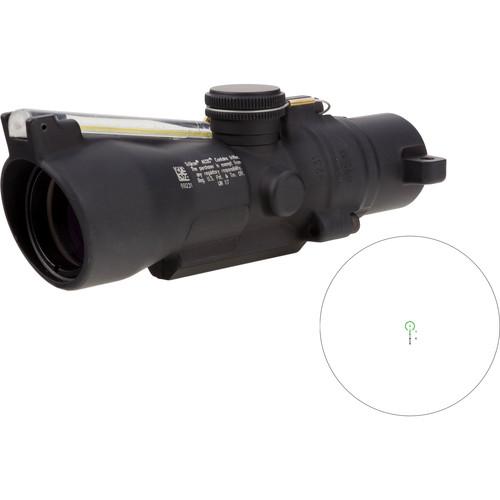 Trijicon 3x24 Compact ACOG Riflescope (Green Horseshoe/Dot .223 / 55gr. Ballistic Reticle, Low Height)