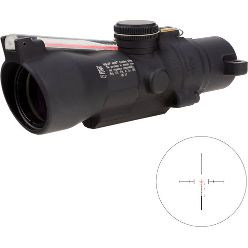 Trijicon 3x24 Compact ACOG Riflescope (Red Crosshair 7.62x39 / 123gr. Ballistic Reticle, Low Height)
