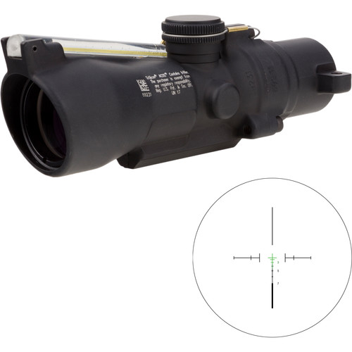 Trijicon 3x24 Compact ACOG Riflescope (Green Crosshair 7.62x39 / 123gr. Ballistic Reticle, Low Height)