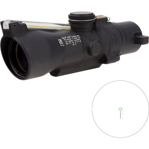 Trijicon 3x24 Compact ACOG Riflescope (Green Horseshoe/Dot 7.62x39 / 123gr. Ballistic Reticle, Low Height)