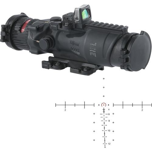 Trijicon 6x48 ACOG Machine Gun Day Optic Kit (Dual Illuminated Horseshoe-Dot M240 BDC Reticle, Matte Black)