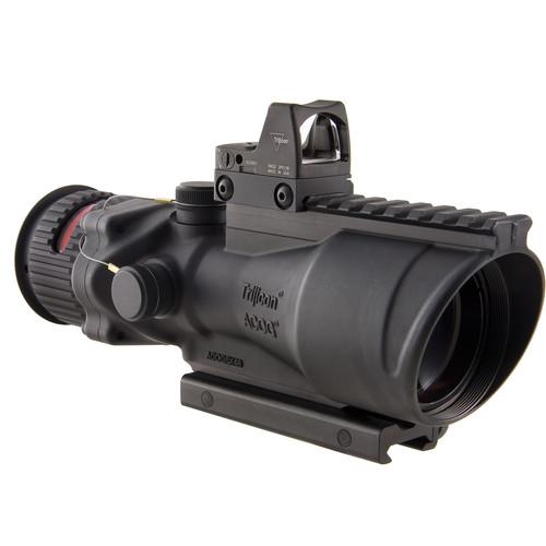 Trijicon 6x48 Dual Illuminated ACOG Machine Gun Optic and 6.5 MOA RMR Kit (.223 Red Chevron Reticle, Matte Black)
