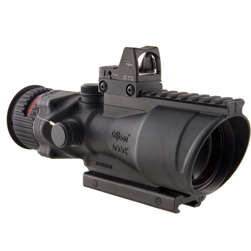 Trijicon 6x48 Dual Illuminated ACOG Machine Gun Optic and 6.5 MOA RMR Kit (.308 Red Chevron Reticle, Matte Black)