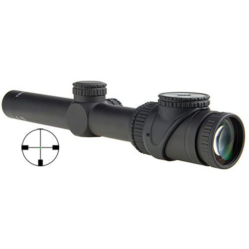 Trijicon 1-6x24 AccuPoint Riflescope (Green German #4 Crosshair Reticle, Matte Black)