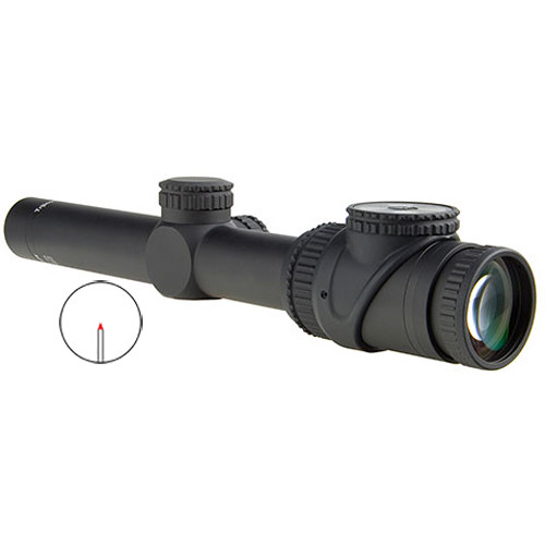 Trijicon 1-6x24 AccuPoint Riflescope (Red Triangle Post Reticle, Matte Black)