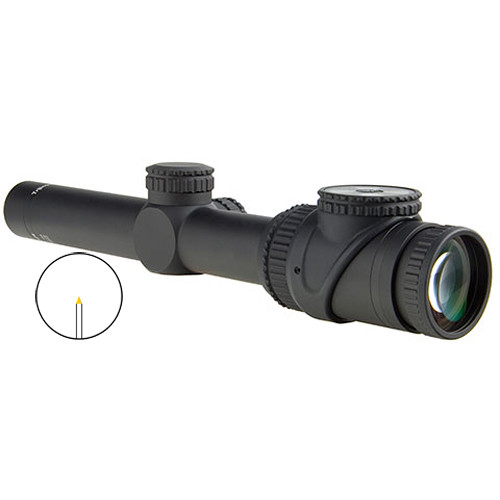 Trijicon 1-6x24 AccuPoint Riflescope (Amber Triangle Post Reticle, Matte Black)