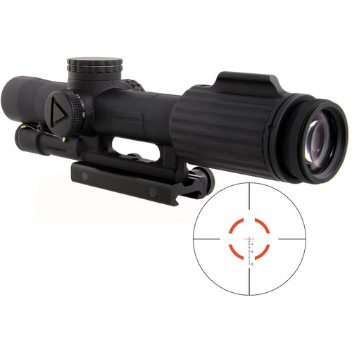 Trijicon 1-6x24 VCOG Riflescope (Red Segmented Circle .223/77 Reticle, Thumbscrew Mount)