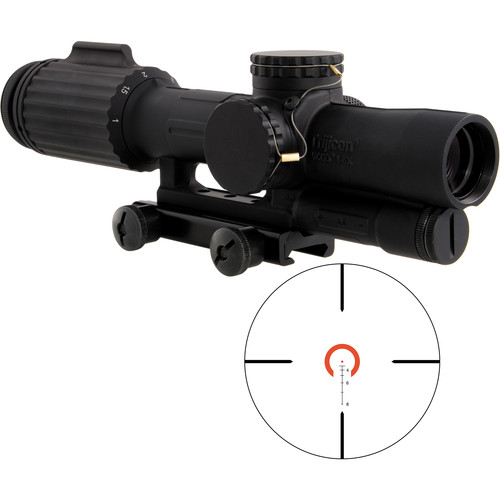 Trijicon 1-6x24 VCOG Riflescope (Red Horseshoe Dot .223/55  Reticle, Thumbscrew Mount)