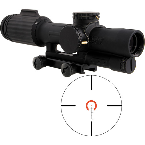 Trijicon 1-6x24 VCOG Riflescope (Red Horseshoe Dot .223/77 Reticle, Thumbscrew Mount)