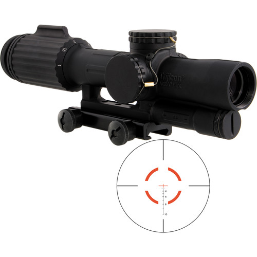 Trijicon 1-6x24 VCOG Riflescope (Red Segmented Circle .308/175 Reticle, Thumbscrew Mount)