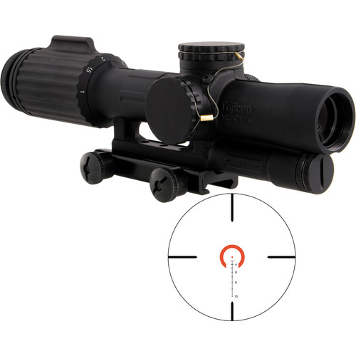 Trijicon 1-6x24 VCOG Riflescope (Red Horseshoe Dot .308/175 Reticle, Thumbscrew Mount)