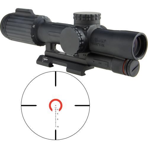 Trijicon 1-6x24 VCOG Riflescope (Red Horseshoe Dot .223/55 Reticle, Quick Release Mount)