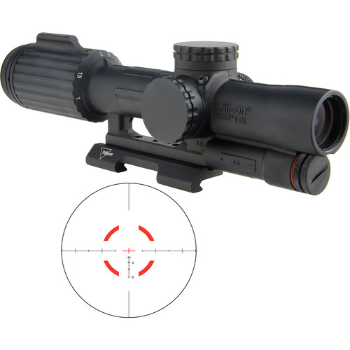 Trijicon 1-6x24 VCOG Riflescope (Red Segmented Circle .308/175 Reticle, Quick Release Mount)