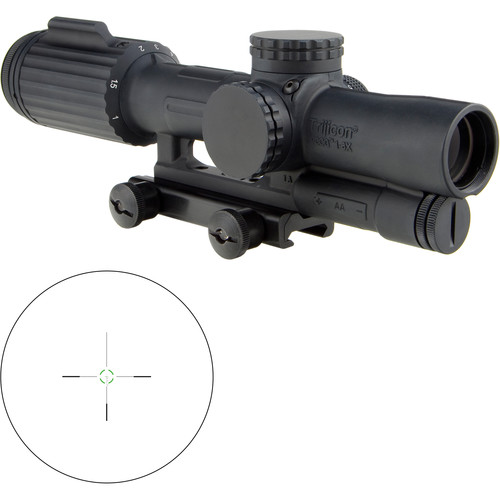 Trijicon 1-6x24 VCOG Riflescope (Green Segmented Circle 300 BLK Reticle, Thumbscrew Mount)
