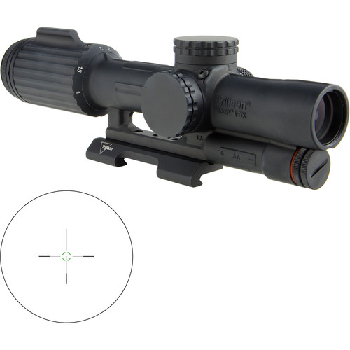 Trijicon 1-6x24 VCOG Riflescope (Green Segmented Circle .223/55 Reticle, Quick Release Mount)