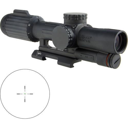 Trijicon 1-6x24 VCOG Riflescope (Green Horseshoe Dot .223/55 Reticle, Quick Release Mount)