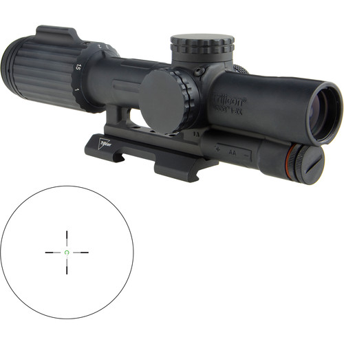 Trijicon 1-6x24 VCOG Riflescope (Green Horseshoe Dot .223/55 Reticle, Quick Release Mount)