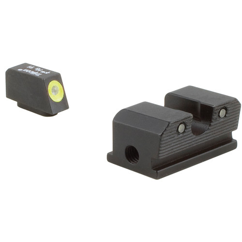 Trijicon HD Night Sight Set for Walther P99/PPQ Pistol (Yellow Front Disk, Matte Black)