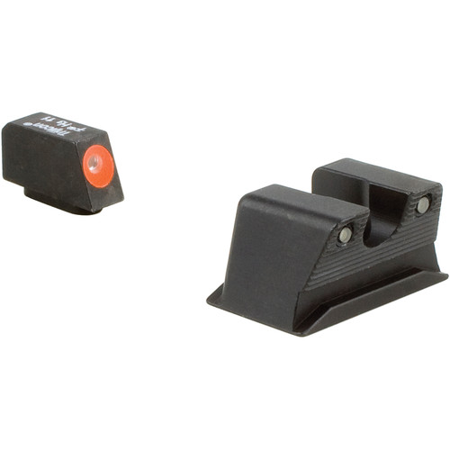 Trijicon HD Night Sight Set for Walther PPS/PPX Pistol (Orange Front Disk, Matte Black)