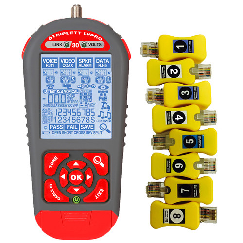 Triplett Low Voltage Pro 30 Cable Tester with Smart Remotes (13 Applications)