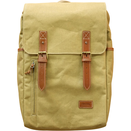 "Tritek Yildiz Backpack for 15"" Laptop (Desert Beige, Tan Leather Trim)"