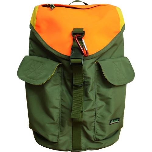 """Tritek Cudi EDC Designer Backpack for 14"""" Laptop (Green-Orange-Yellow)"""