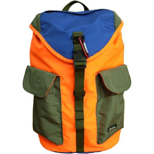 "Tritek Cudi EDC Designer Backpack for 14"" Laptop (Orange-Sax-Green)"