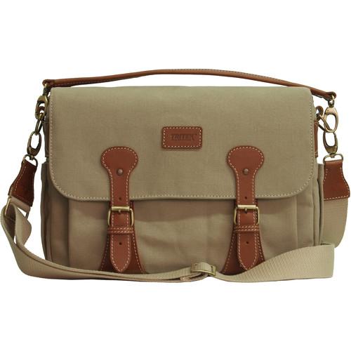 Tritek Myra Camera & Travel Shoulder Bag (Large, Beige)