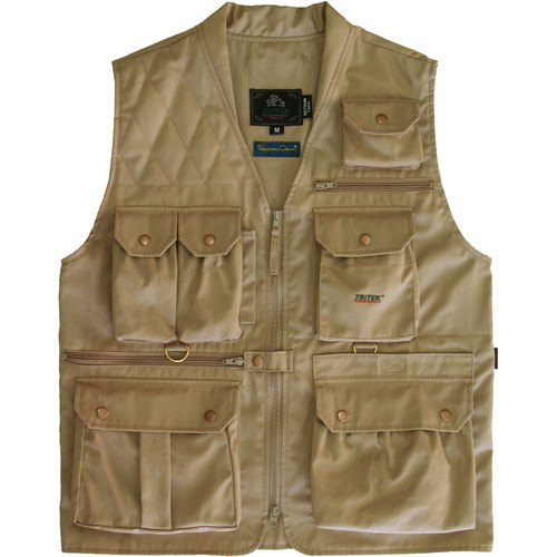 Tritek Seyhun Classic Camera & Travel Vest (X-Large, Beige-Olive Anthracite)