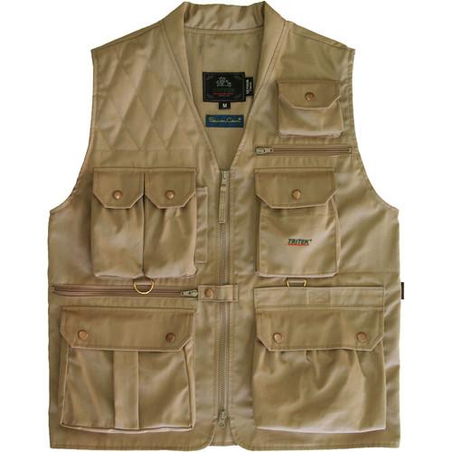 Tritek Seyhun Classic Camera & Travel Vest (XX-Large, Beige-Olive Anthracite)