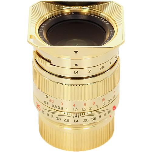 TTArtisan 35mm F1.4 Lens for 24K Gold Plated Leica M-Mount