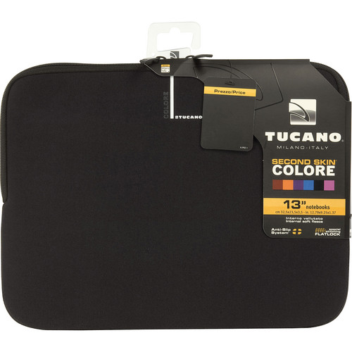 "Tucano Colore Second Skin Sleeve for 13"" & 14"" Notebooks (Black)"