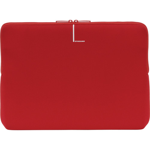 """Tucano Colore Sleeve for 13"""" & 14"""" Notebooks (Red)"""