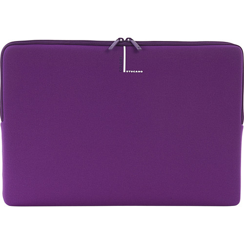 "Tucano Colore Second Skin Sleeve for 15"" & 16"" Notebooks (Purple)"