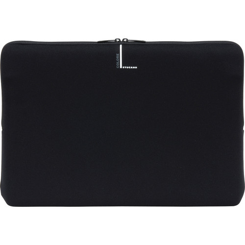 """Tucano Colore Second Skin Sleeve for up to 17.4"""" Notebooks (Black)"""