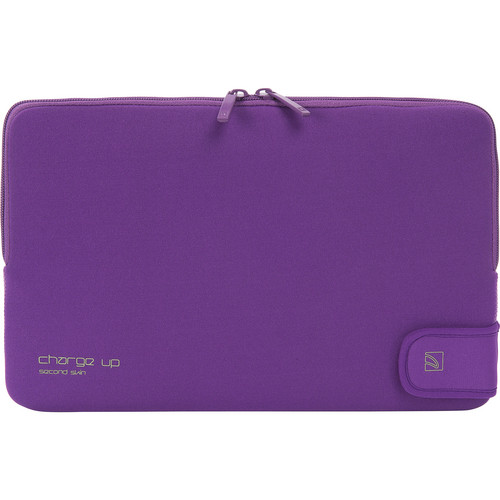 "Tucano Charge_Up Second Skin Neoprene Sleeve for 11"" MacBook Pro & Air (Purple)"