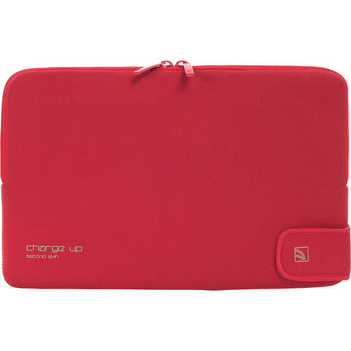 "Tucano Charge_Up Second Skin Neoprene Sleeve for 11"" MacBook Pro & Air (Red)"