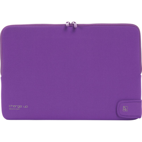 "Tucano Charge_Up Second Skin Neoprene Sleeve for 15"" MacBook Pro & MacBook Pro with Retina Display (Purple)"