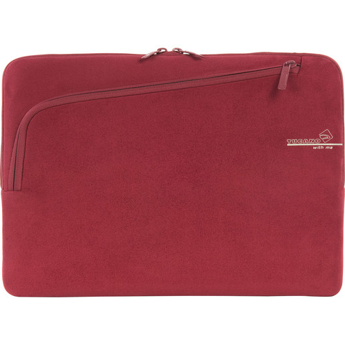 "Tucano Second Skin With Me Microfiber Sleeve For 15"" MacBook Pro (Red)"