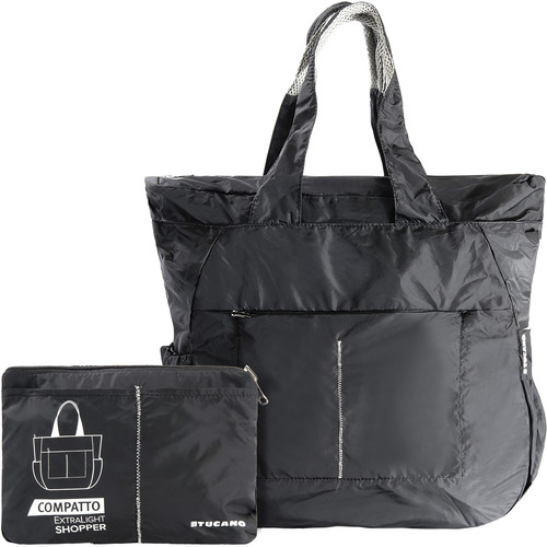 Tucano Extra-Light 20L Water-Resistant Shopping Bag (Black)