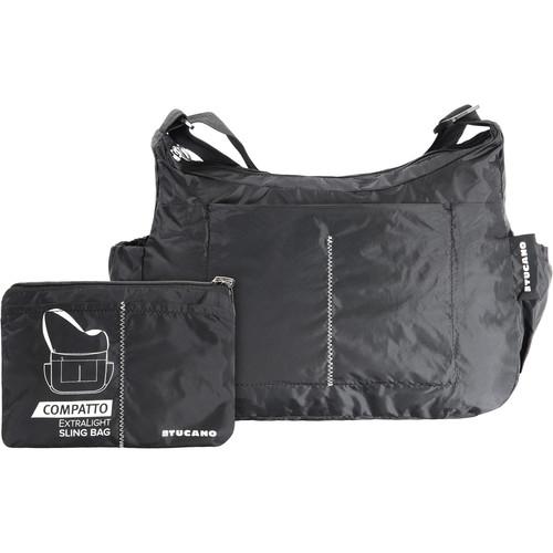 Tucano Compatto XL Water-Resistant 15L Packable Slingbag (Black)