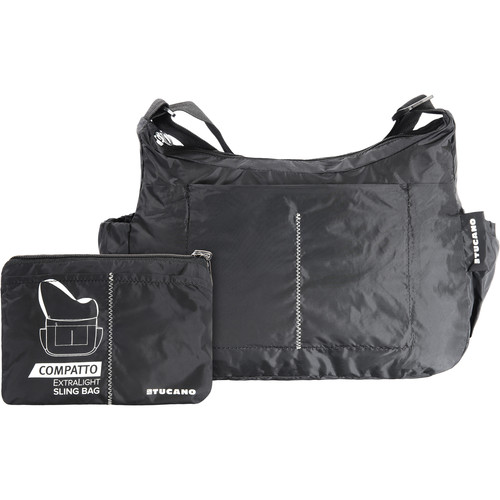 Tucano Compatto XL Water-Resistant 15L Packable Slingbag (Black)