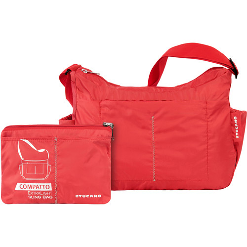 Tucano Compatto XL Water-Resistant 15L Packable Slingbag (Red)