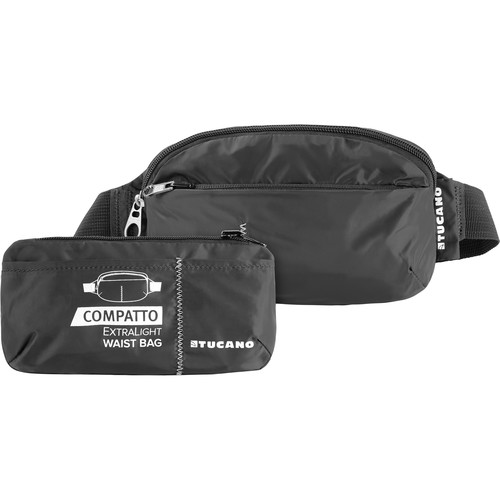 Tucano Extra-Light 1L Water-Resistant Packable Waistbag (Black)
